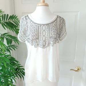 Maurices Beaded Sequin Top